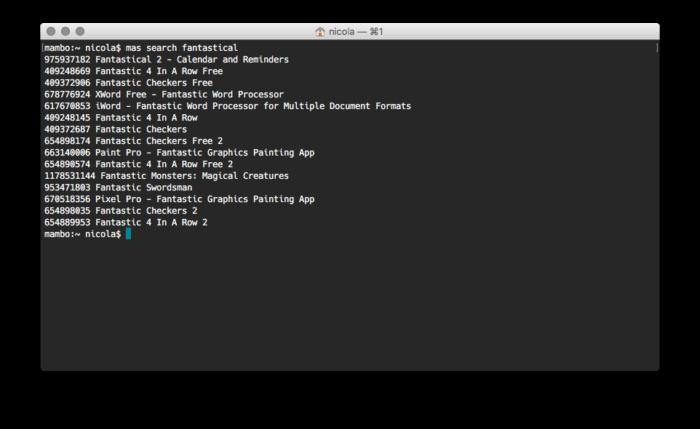 mac-cli example (2016-12-10)